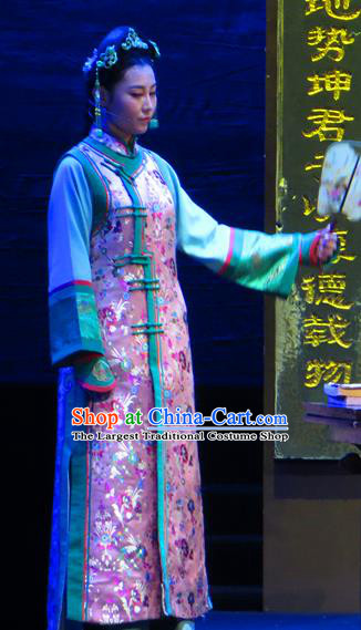 Chinese Historical Drama Yinzhan Naxi Ancient Maidservant Garment Costumes Traditional Stage Show Dress Qing Dynasty Young Lady Apparels and Headpieces