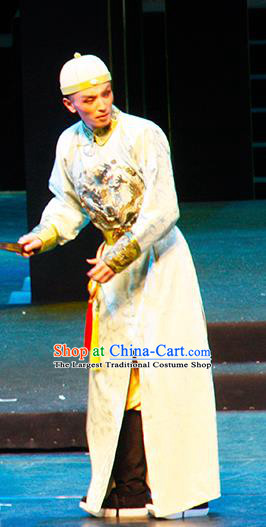 Chinese Traditional Qing Dynasty Prince Clothing Stage Performance Historical Drama Yinzhan Naxi Apparels Costumes Ancient Noble Childe Garment and Headwear