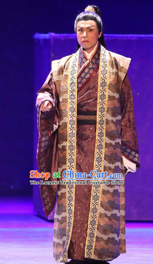 Chinese Traditional Jin Dynasty Scholar Shan Tao Clothing Stage Performance Historical Drama Guang Ling San Apparels Costumes Ancient Official Garment and Headwear