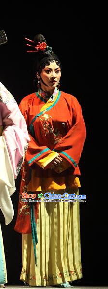 Chinese Sichuan Opera Highlights Village Woman Garment Costumes and Headdress Cao Min Song Shijie Traditional Peking Opera Civilian Female Dress Apparels