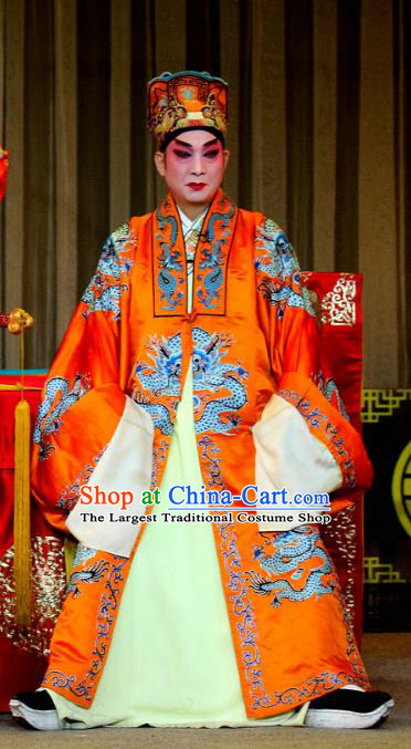 Tie Long Mount Chinese Sichuan Opera Emperor Apparels Costumes and Headpieces Peking Opera Highlights Xiaosheng Garment Lord Clothing