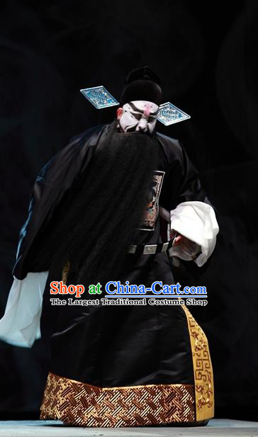 Cao Min Song Shijie Chinese Sichuan Opera Official Apparels Costumes and Headpieces Peking Opera Highlights Painted Role Garment Elderly Male Clothing