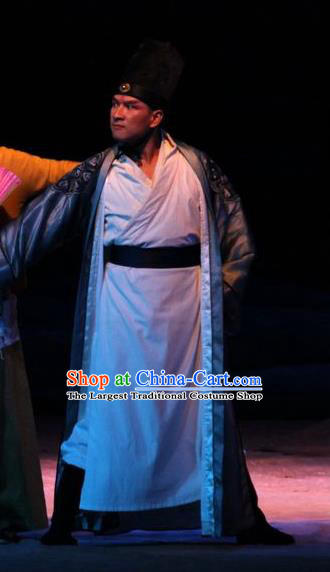 Chinese Traditional Ming Dynasty Knight Clothing Stage Performance Historical Drama New Dragon Inn Apparels Costumes Ancient Swordsman Garment and Headwear