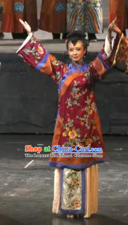 Chinese Historical Drama Yangshi Lei Ancient Young Female Garment Costumes Traditional Stage Show Dress Qing Dynasty Mistress Apparels and Headpieces
