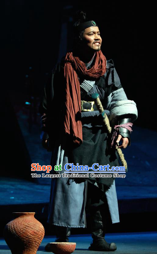 Chinese Traditional Spring and Autumn Period Hero Clothing Stage Performance Historical Drama Yao Li And Qing Ji Apparels Costumes Ancient Assassin Garment and Headwear