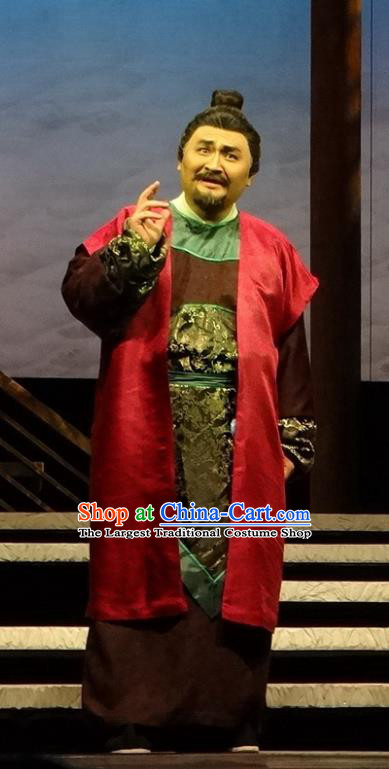 Chinese Traditional Song Dynasty Landlord Clothing Stage Performance Historical Drama Han Wengong Apparels Costumes Ancient Merchant Garment and Headwear