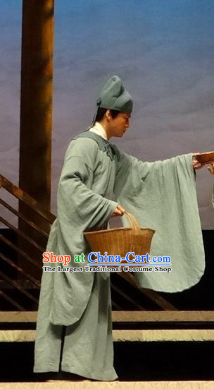 Chinese Traditional Song Dynasty Scholar Clothing Stage Performance Historical Drama Han Wengong Apparels Costumes Ancient Young Male Garment and Headwear