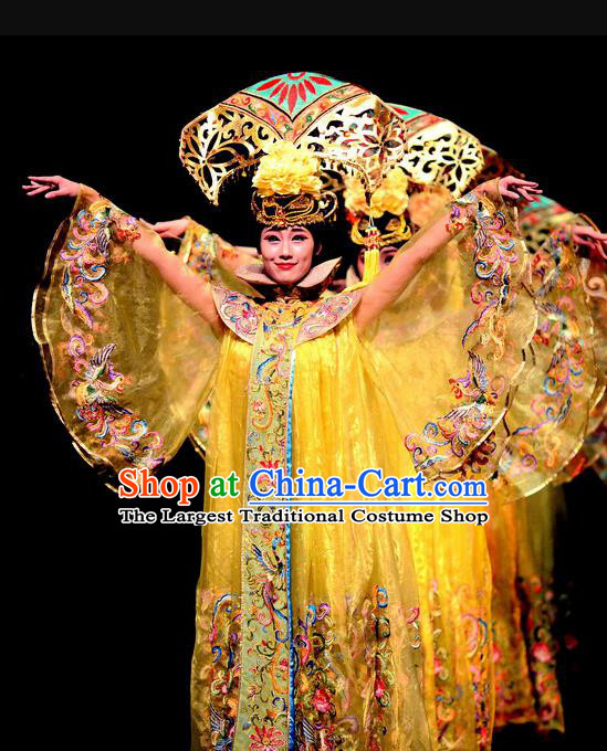 Chinese Dance Drama The Summer Palace Ancient Palace Lady Garment Costumes Traditional Stage Show Dress Qing Dynasty Court Maid Apparels and Headpieces