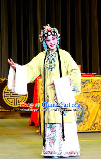 Chinese Sichuan Opera Highlights Diva Garment Costumes and Headdress He Gong Huan Qing Traditional Peking Opera Princess Consort Dress Rani Apparels