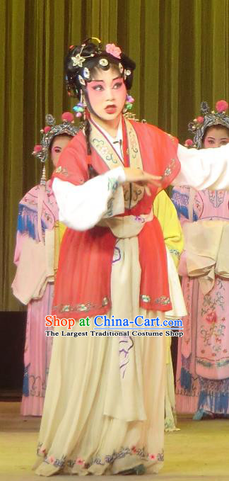 Chinese Sichuan Opera Highlights Hua Tan Garment Costumes and Headdress He Gong Huan Qing Traditional Peking Opera Actress Dress Young Female Apparels