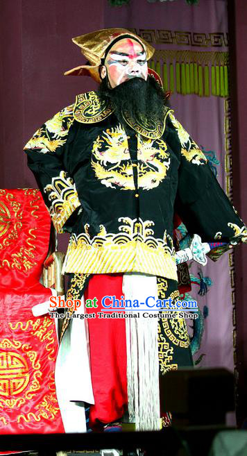 Yang He Tang Chinese Sichuan Opera Takefu Apparels Costumes and Headpieces Peking Opera Highlights Wusheng Garment Martial Male Clothing