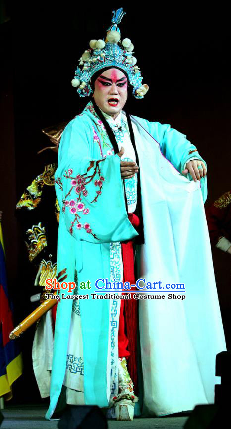 Yang He Tang Chinese Sichuan Opera Wusheng Apparels Costumes and Headpieces Peking Opera Highlights Garment Martial Male Xue Meng Clothing