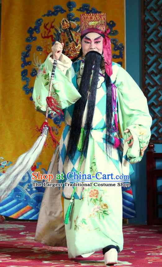 Three Tricks Bai Mudan Chinese Sichuan Opera Laosheng Apparels Costumes and Headpieces Peking Opera Highlights Elderly Male Garment Taoist Lv Dongbin Clothing