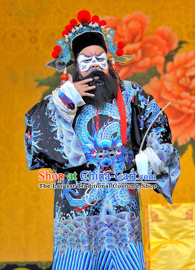 Sui Chao Luan Chinese Sichuan Opera Lord Yuwen Huaji Apparels Costumes and Headpieces Peking Opera Highlights Elderly Male Garment Official Clothing