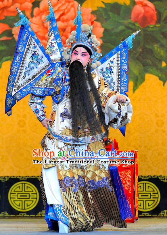 Sui Chao Luan Chinese Sichuan Opera General Wu Yunzhao Apparels Costumes and Headpieces Peking Opera Highlights Martial Male Garment Kao Clothing with Flags