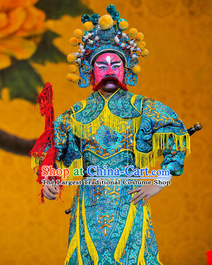 Sui Chao Luan Chinese Sichuan Opera Martial Male Apparels Costumes and Headpieces Peking Opera Highlights Garment General Ma Shumou Armor Clothing