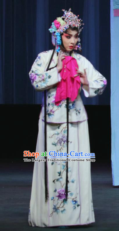 Chinese Sichuan Opera Highlights Diva Lan Xiuying Garment Costumes and Headdress Traditional Peking Opera Hua Tan Dress Actress Apparels