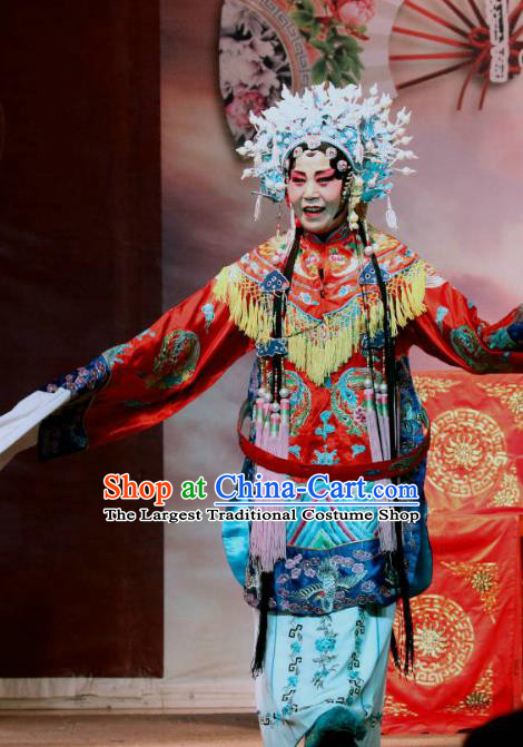 Chinese Sichuan Opera Highlights Court Empress Garment Costumes and Headdress Er Jin Gong Traditional Peking Opera Hua Tan Dress Queen Apparels
