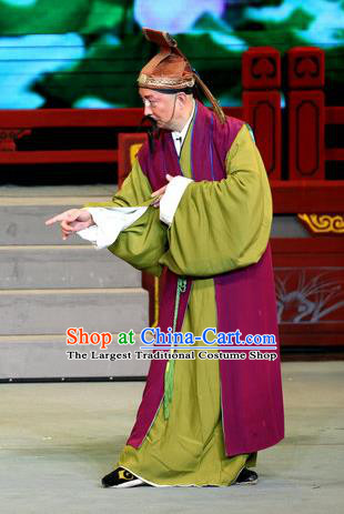 Fu Gui Rong Hua Chinese Sichuan Opera Laosheng Apparels Costumes and Headpieces Peking Opera Highlights Elderly Male Garment Clothing