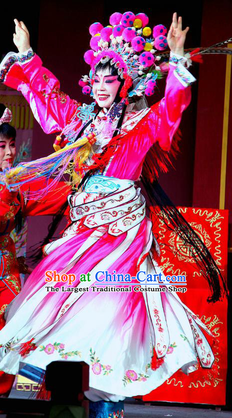 Chinese Sichuan Opera Highlights Tao Ma Tan Garment Costumes and Headdress Bei Mang Mountain Traditional Peking Opera Actress Dress Imperial Consort Wei Apparels