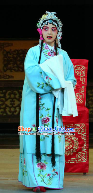 Chinese Sichuan Opera Highlights Diva Garment Costumes and Headdress En Chou Ji Traditional Peking Opera Young Female Dress Actress Bu Qiaozhen Apparels
