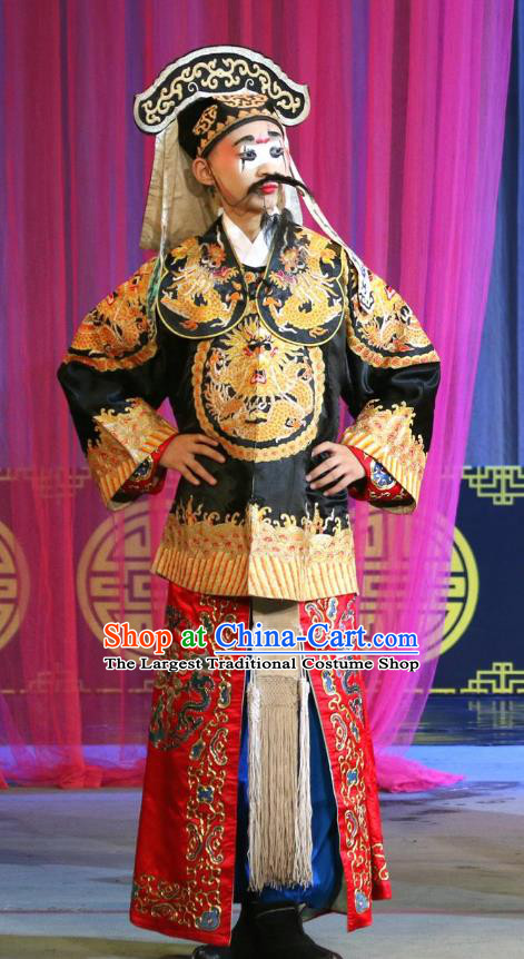Dan Dao Hui Chinese Sichuan Opera Soldier Apparels Costumes and Headpieces Peking Opera Highlights Martial Male Garment Figurant Clothing