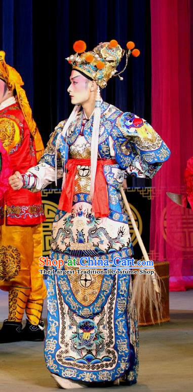 Dan Dao Hui Chinese Sichuan Opera General Apparels Costumes and Headpieces Peking Opera Highlights Wusheng Garment Martial Male Clothing