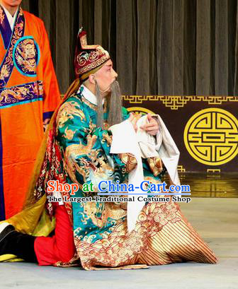 Zhan Huang Pao Chinese Sichuan Opera Official Gao Huaide Apparels Costumes and Headpieces Peking Opera Highlights Laosheng Garment Elderly Male Clothing