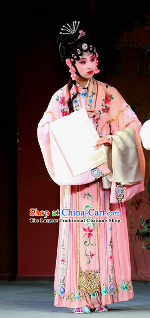 Chinese Sichuan Highlights Opera Rich Female Garment Costumes and Headdress Zuan Gou Dong Traditional Peking Opera Hua Tan Dress Actress Apparels