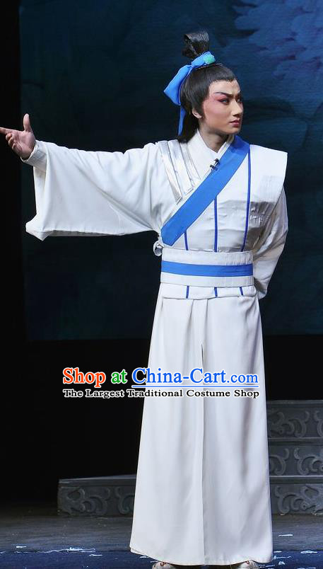 Princess Turandot Chinese Sichuan Opera Young Male Apparels Costumes and Headpieces Peking Opera Highlights Garment Swordsman Clothing