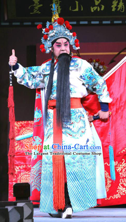 Zhan Ying Long Chinese Sichuan Opera General Xue Dingshan Apparels Costumes and Headpieces Peking Opera Highlights Martial Male Garment Wusheng Clothing