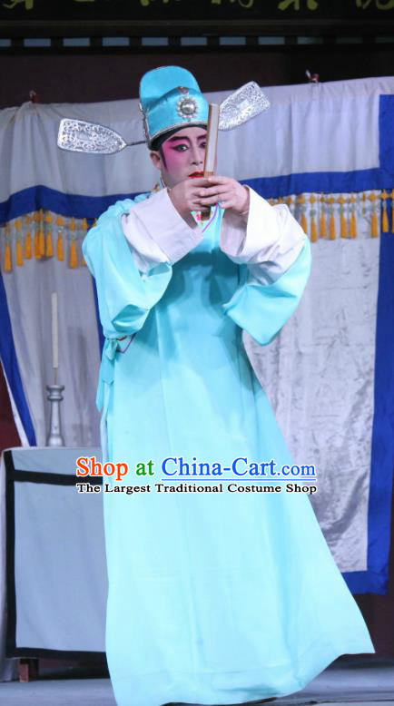 The Romance of Hairpin Chinese Sichuan Opera Niche Apparels Costumes and Headpieces Peking Opera Highlights Young Male Garment Scholar Wang Shipeng Clothing