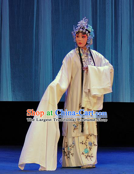 Chinese Sichuan Opera Highlights Garment Diva Qian Yulian Costumes and Headdress The Romance of Hairpin Traditional Peking Opera Young Female Dress Actress Apparels