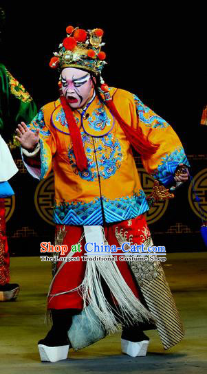 Chinese Sichuan Opera Imperial Bodyguard Apparels Costumes and Headpieces Peking Opera Highlights Wusheng Garment Martial Male Clothing