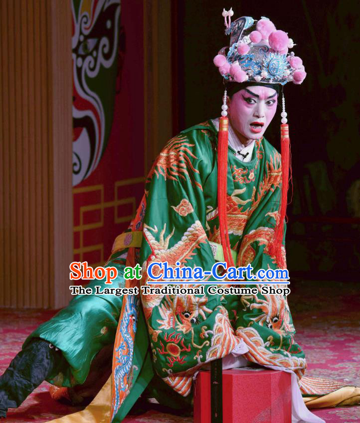 Chinese Sichuan Opera Court Servant Apparels Costumes and Headpieces Peking Opera Highlights Eunuch Chen Lin Garment Clothing
