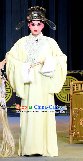 Chinese Sichuan Opera Scholar Pan Bizheng Apparels Costumes and Headpieces Peking Opera Highlights Young Male Garment Niche Clothing