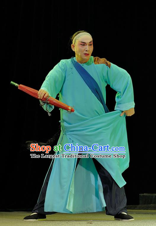 Legend of Chen Mapo Chinese Sichuan Opera Poor Male Apparels Costumes and Headpieces Peking Opera Highlights Garment Young Man Chen Fuchun Clothing