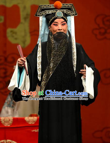 Wang Baochuan Chinese Bangzi Opera Elderly Male Apparels Costumes and Headpieces Traditional Hebei Clapper Opera Laosheng Garment Xue Pinggui Clothing