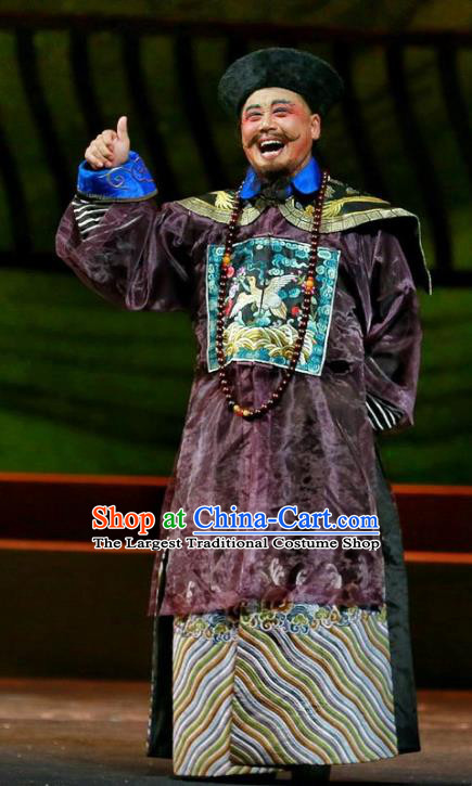 Cang Sheng Zai Shang Chinese Sichuan Opera Minister Apparels Costumes and Headpieces Peking Opera Highlights Official Garment Clothing