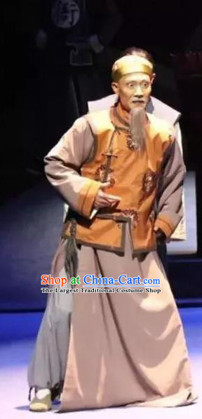 Cao Xie Xian Ling Chinese Sichuan Opera Old Man Apparels Costumes and Headpieces Peking Opera Highlights Garment Adviser Clothing