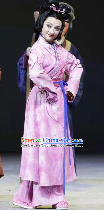 Chinese Sichuan Highlights Opera Young Mistress Garment Costumes and Headdress Luo Xiahong Traditional Peking Opera Madam Dress Actress Apparels