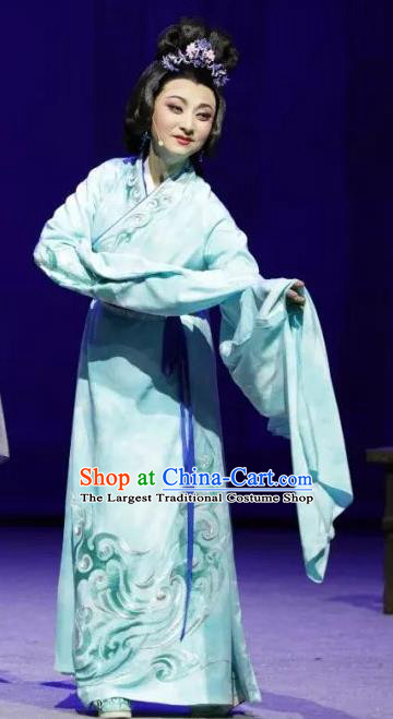 Chinese Sichuan Highlights Opera Hua Tan Garment Costumes and Headdress Luo Xiahong Traditional Peking Opera Actress Dress Young Mistress Apparels