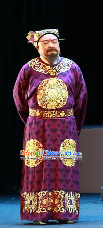 Shi Jiu Taibai Chinese Sichuan Opera Chancellor Li Linfu Apparels Costumes and Headpieces Peking Opera Highlights Elderly Male Garment Prime Minister Clothing