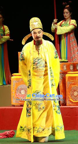 Shi Jiu Taibai Chinese Sichuan Opera Emperor Li Longji Apparels Costumes and Headpieces Peking Opera Highlights Lord Garment Monarch Clothing
