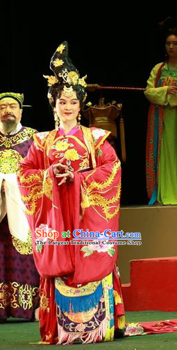Chinese Sichuan Highlights Opera Imperial Consort Yang Yuhuan Garment Costumes and Headdress Shi Jiu Taibai Traditional Peking Opera Actress Dress Court Lady Apparels