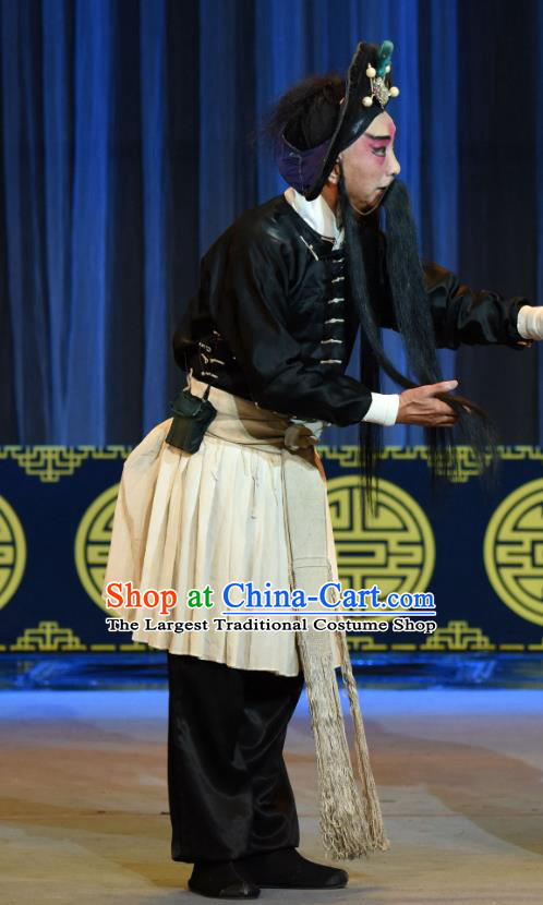 Jin Tai Jiang Chinese Sichuan Opera Martial Male Apparels Costumes and Headpieces Peking Opera Highlights Knight Garment Swordsman Hou Sheng Clothing