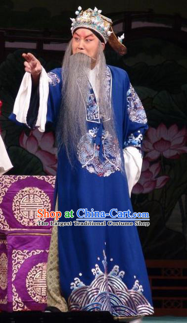 Wang Baochuan Chinese Bangzi Opera Laosheng Wang Yun Apparels Costumes and Headpieces Traditional Hebei Clapper Opera Elderly Male Garment Official Clothing