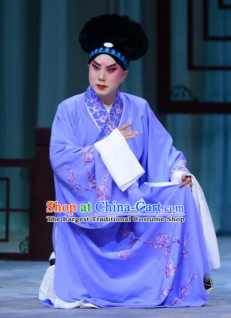 Zhen Zhu Shan Chinese Bangzi Opera Xiaosheng Jiang Xing Apparels Costumes and Headpieces Traditional Hebei Clapper Opera Young Male Garment Merchant Clothing