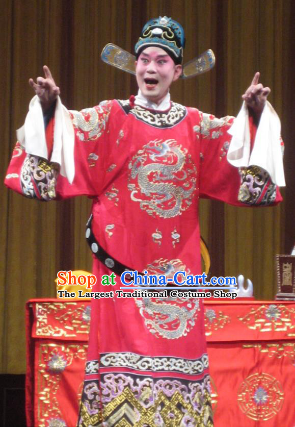 Bai Luo Shan Chinese Bangzi Opera Number One Scholar Apparels Costumes and Headpieces Traditional Hebei Clapper Opera Young Male Garment Official Xu Jizu Clothing