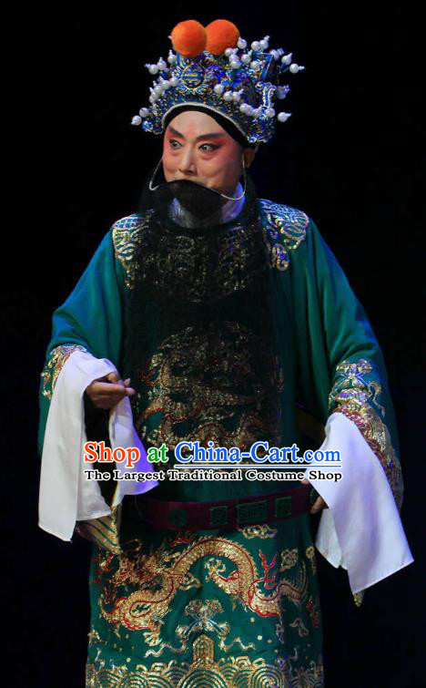 Kou Zhun Chinese Bangzi Opera Minister Yang Yanzhao Apparels Costumes and Headpieces Traditional Hebei Clapper Opera Martial Man Garment General Clothing